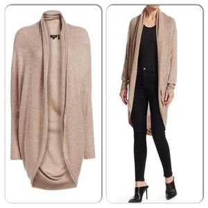 NWT THEORY Long Curved Hem Cashmere Cardigan